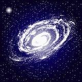 L'espace, galaxie, se tient le premier rôle illustration libre de droits