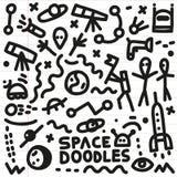 L'espace - griffonnages réglés Photographie stock