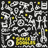 L'espace - griffonnages réglés Image libre de droits