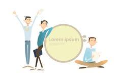 L'espace heureux de copie de Team Student Group Banner With d'homme d'affaires Photos stock