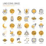 L'espace, icône parfaite de pixel illustration de vecteur