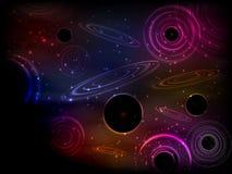 l'espace Illustration de vecteur pour votre eau doux de design Beau, fantastique et magique Image libre de droits