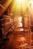 L'espace industriel Photos libres de droits