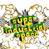 L'espace industriel superbe - mots de style de bande dessinée illustration stock