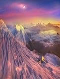 L'espace infini alpin Photos stock