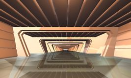 L'espace intérieur de scene Image stock