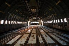 L'espace intérieur des avions d'abandon Image stock