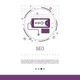 L'espace local de copie de Seo Keywording Search Banner With Photos stock