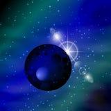 l'espace Lumière de planète Illustration illustration stock