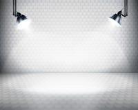 L'espace lumineux pour l'exposition. Image libre de droits