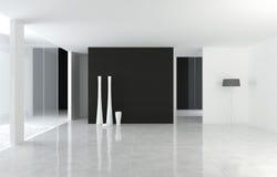 L'espace moderne de la conception intérieure B&W Photos libres de droits