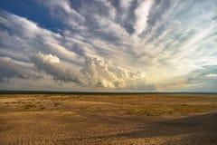 L'espace mystérieux - le plus grand désert en Europe image libre de droits