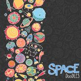 L'espace objecte des griffonnages Photo stock