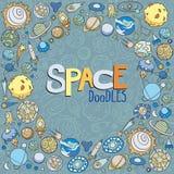 L'espace objecte des griffonnages Images stock