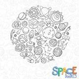 L'espace objecte des griffonnages Photographie stock libre de droits