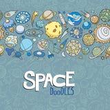 L'espace objecte des griffonnages Photos stock