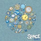 L'espace objecte des griffonnages Images libres de droits