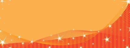 L'espace orange de bannière d'étoile Photo stock
