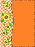L'espace orange de copie de vecteur avec un cadre latéral de genièvre Photographie stock libre de droits
