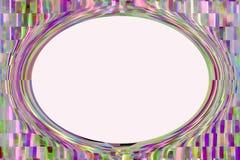 L'espace ovale de copie d'abrégé sur coloré places Photographie stock libre de droits