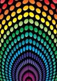 L'espace pointillé coloré Photo stock