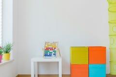 L'espace pour des enfants dans la maison Images libres de droits