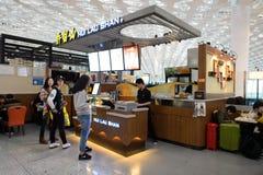 L'espace restauration d'aéroport de Shenzhen Photographie stock libre de droits