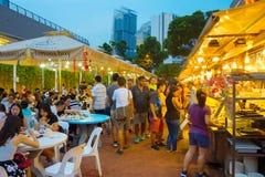 L'espace restauration extérieur Singapour Photos stock