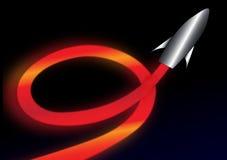 L'espace Rocket illustration stock