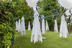 L'espace vert extérieur avec le parapluie Photo stock