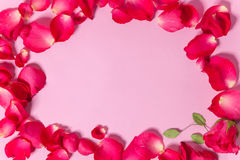 L'espace vide arrosé avec des pétales de rose Images libres de droits