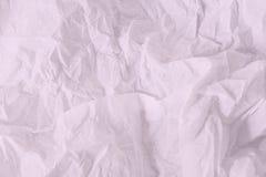 L'espace vide blanc et rose de papier froissé de feuille, pour le fond des textes Image libre de droits