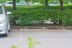 L'espace vide dans le parking au parc public Photographie stock libre de droits