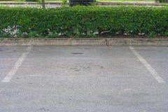 L'espace vide dans le parking au parc public Images stock