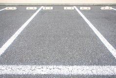 L'espace vide dans un parking Photos libres de droits