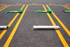 L'espace vide dans un parking Photos stock