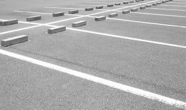 L'espace vide dans un parking Images libres de droits