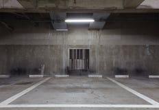 L'espace vide dans un parking Images stock