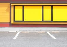 L'espace vide dans un parking de voiture Photographie stock libre de droits
