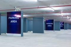 L'espace vide dans un stationnement Images stock