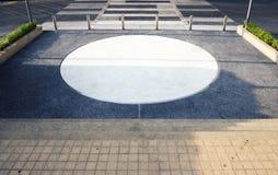 L'espace vide dans une photo de parking Image stock