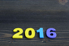 L'espace vide de copie pour l'idée d'inscription de joyeuses vacances de la nouvelle année 2016 Photo stock