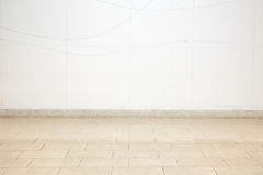 L'espace vide de couleur crème avec la tuile Images stock