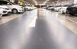 L'espace vide pour des voitures, stationnement extérieur de voiture Photos libres de droits