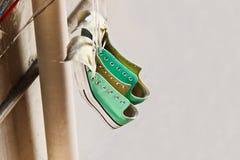 L'espadrille verte Photo libre de droits