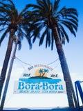 L'Espagne, Îles Baléares, Ibiza, plage d'en Bossa, Bora Bora Beach Photographie stock