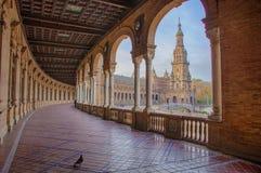 L'Espagne ajustent, Plaza de Espana, Séville, Espagne Vue de porche Photo stock