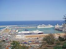 L'Espagne, Barcelone, le 21 août 2008 Le port principal de Barcelone L photo libre de droits