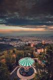 L'Espagne Barcelone Tibidabo Photographie stock