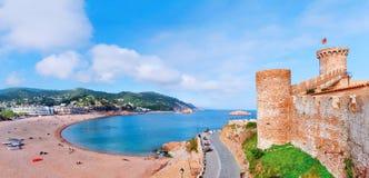 l'espagne Catalunya Tossa de mars Vue aérienne et panoramique des FO Photographie stock libre de droits